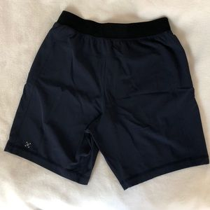 "Small lululemon 7"" liner-less shorts"